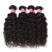 Brazilian Water Wave Hair 4 Bundles, 100% Virgin Human Hair Weave - Sunberhair