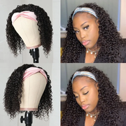 Sunber Short Jerry Curly Headband Bob Wigs Easy Wear & Go Glueless Virgin Human Hair Wigs