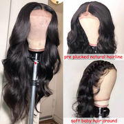 Sunber Lace Front Wig 9A Grade 13*4 / 13*6 / 360 Lace Front Body Wave  Wig Preplucked Human Hair Wig 150% Density