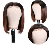 Sunber Ombre Hair Wig 13*4 Lace Front T1b4 Short Bob Wig Preplucked For Black Women