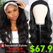 Sunber YouTuber Savannah Sylver Highly Recommend Easy Wear & Go Headband Wigs No Glue & No Sew In Human Hair Scarf Wigs Flash Sale