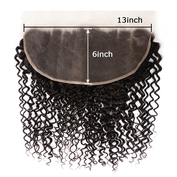 Sunber Hair Brazilian Human Curly Hair 13*6 Lace Closure Pre-Plucked With Baby Hair