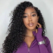 Sunber Hair Malaysian Curly Hair 4 Bundles with 1pcs Lace Closure, 100% Human Hair Weave