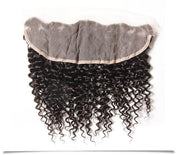 Indian Curly Hair Lace Frontal with 3 Bundles, 100% Virgin Human Hair Extensions Wefts - Sunberhair