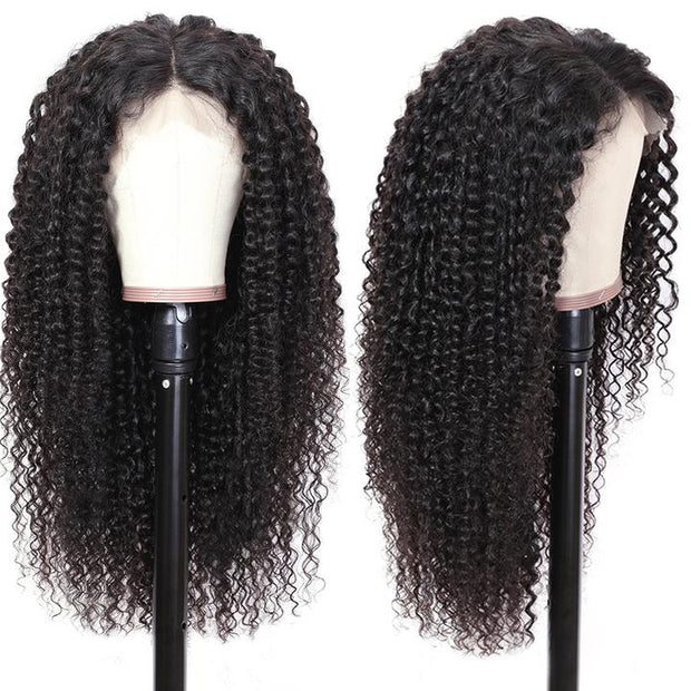Sunber Hair 9a Grade Natural Pre-plucked Long Curly Lace Front Wig 100% Human Hair 180% Density