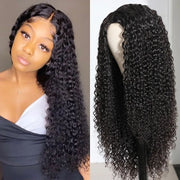 Sunber High-Quality 4x4 Lace Closure Part hand tied Lace Wig 150% Density Jerry Curly Human Hair Wigs With Baby Hair