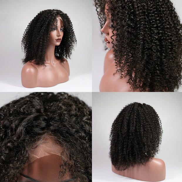 Lace Human Hair Wigs Brazilian Afro Kinky Curly Hair Lace Wig For Black Women, 130% density - Sunberhair