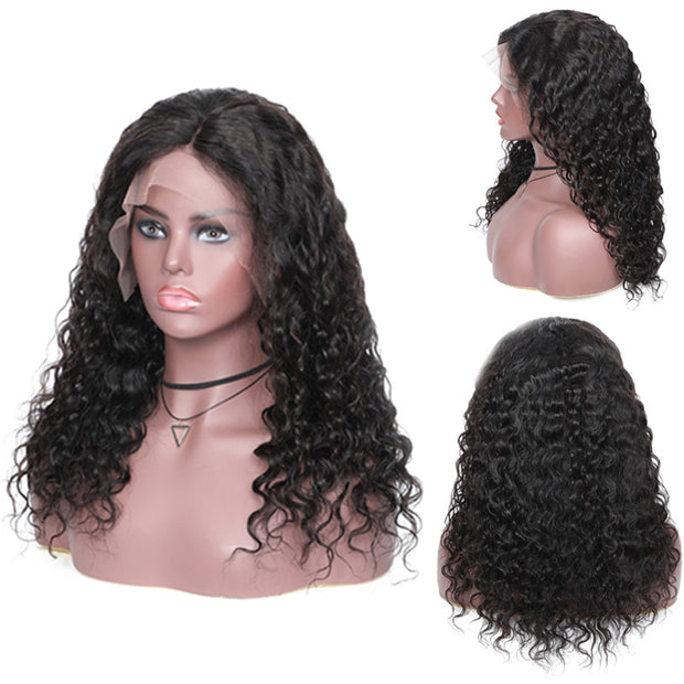 Sunber Hair Loose wave 13*4 Lace Front Wig Pre-pucked Human Hair Wig Bleached Knots 150% Density