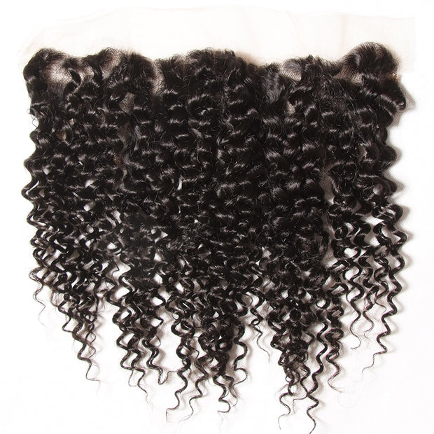 Virgin Curly Hair 13*4 Ear to Ear Lace Frontal 1pcs/lot - Sunberhair