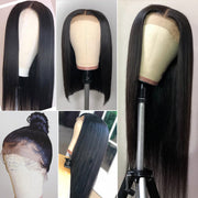 Lace Front 9a Grade Human Straight Hair Wig 180% Density Remy Human Hair