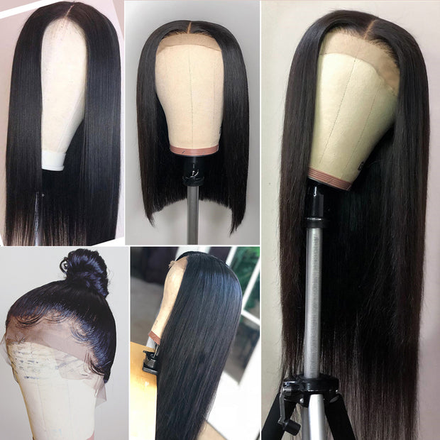 13*4 Lace Front 9a Grade Human Straight Hair Wig 180% Density Remy Human Hair