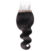 Sunber Hair Brazilian Human Body Wave Hair 5x5 Free Part Lace Closure Pre-Plucked With Baby Hair