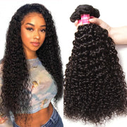 Brazilian Jerry Curly Hair Bundles 3pcs/lot - 100% Human Hair Weaves