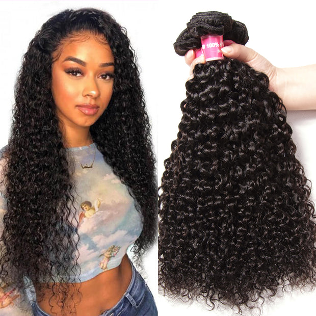 Sunber Hair Brazilian Jerry Curly Hair Bundles 3pcs/lot - 100% Human Hair Weaves
