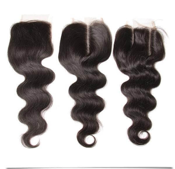 Peruvian Virgin Hair Body Wave 3 Bundles With 4*4 Free/Middle/3 Part Lace Closure - Sunberhair