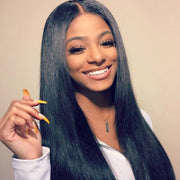 Straight Hair 3 Bundles with 13*4 Transparent Ear to Ear Frontal Closure