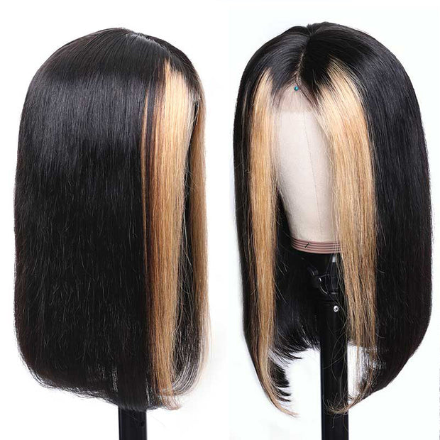 Lace Front 9A Grade TL27 Highlight Human Straight Hair Wig 130% 150% 180% Density