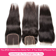 Sunber Hair Brazilian  Vrigin Human Straight Hair 3 Bundles with 2 Closure