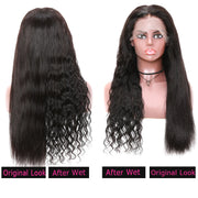 Sunber Hair Wet And Wavy Deep Wave Lace Front Wig Preplucked With Baby Hair 150% Density Dry For Straight & Wet For Deep Style