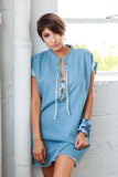 CHELSE CHAMBRAY FRAY DRESS