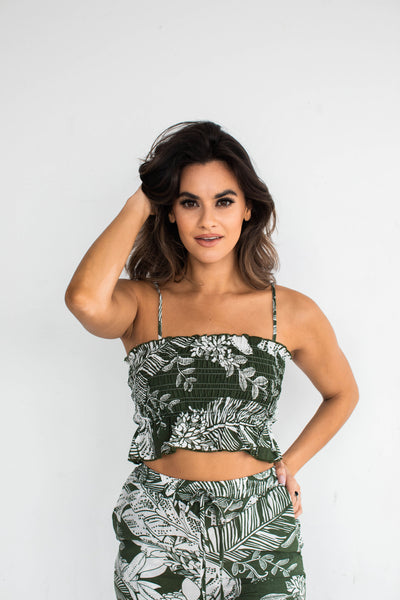DESERT PALM SCRUNCHI TUBE TOP