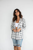 BLAIR POCKETED PLAID BLAZER
