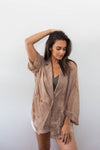 CASSIE SHEER BLAZER COVER-UP