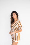 CHARLIE STRIPED ROMPER
