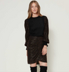 OLIVIA METALLIC BLACK SWEATER