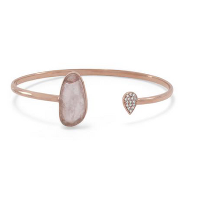 PASSION ROSE QUARTZ OPEN CUFF