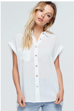 ANISTON COTTON LINEN BUTTON DOWN