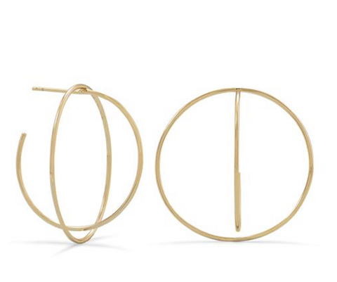 GOLD GLOBAL HOOPS