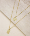 Medallions of Mine Layered Gold Coin Necklace Set