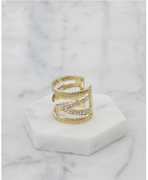 Break The Pattern Ring in Gold