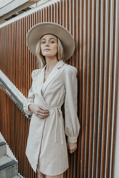 NIKA WRAP BLAZER DRESS