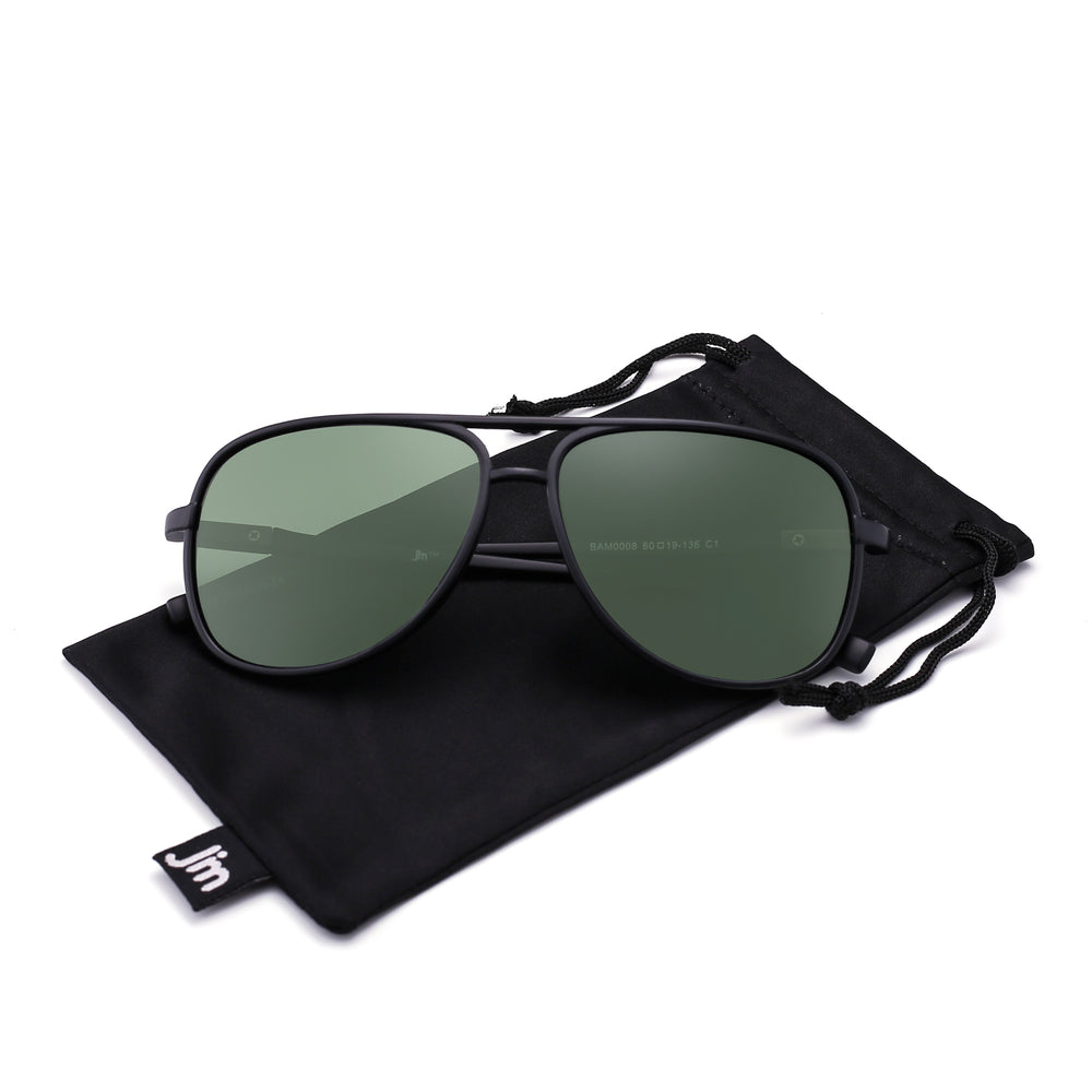Retro Polarized Aviator Sunglasses