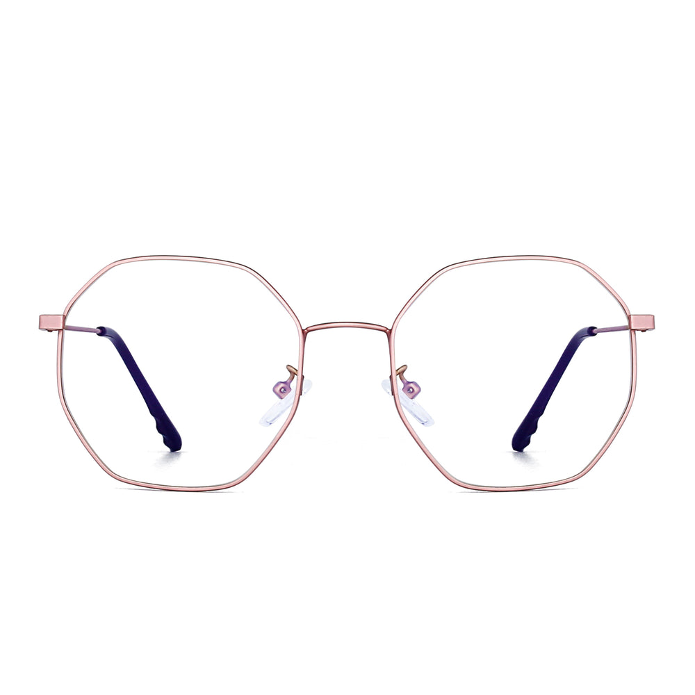 Anti Blue Light Blocking Glasses Fashion Polygon Style