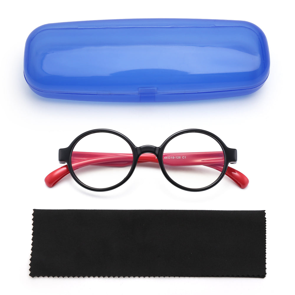 Kid's Blue Light Blocking Glasses Round Anti Eyestrain Eyewear