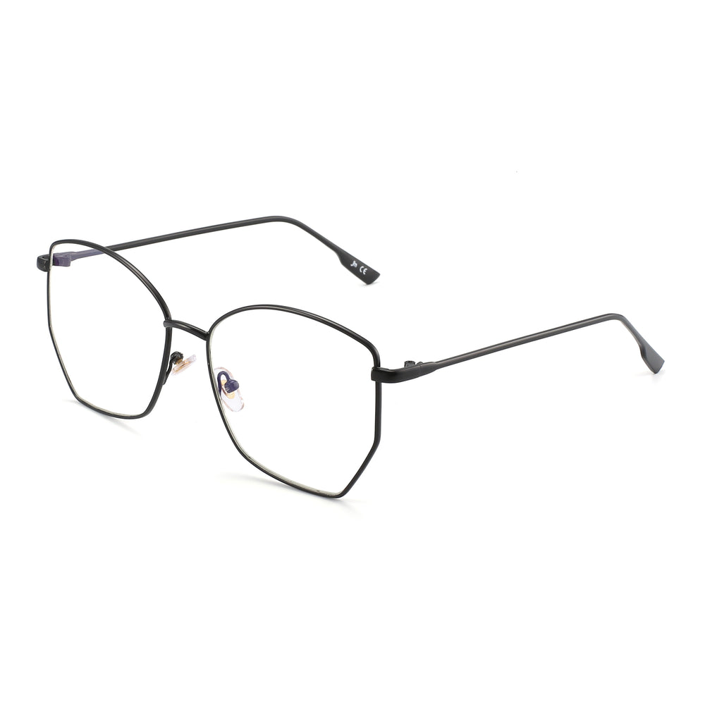 Geometric  Computer Glasses Anti Glare Metal Frame