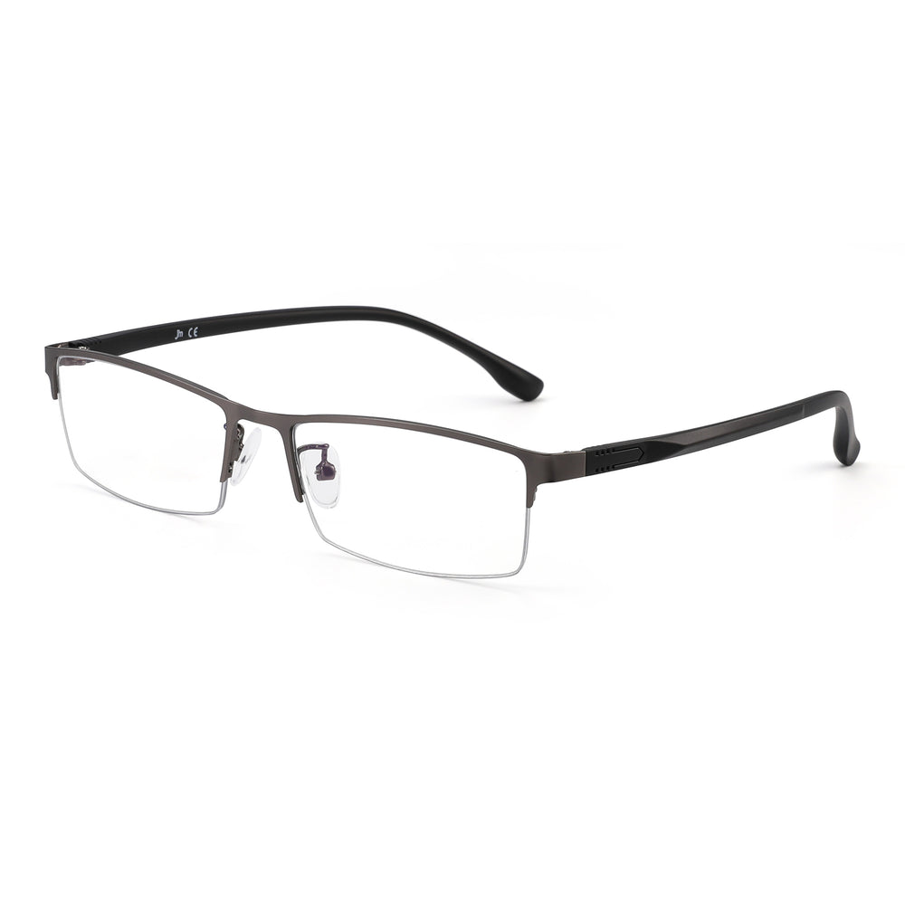 Lightweight Semi Rimless Blue Light Blocking Glasses for Men