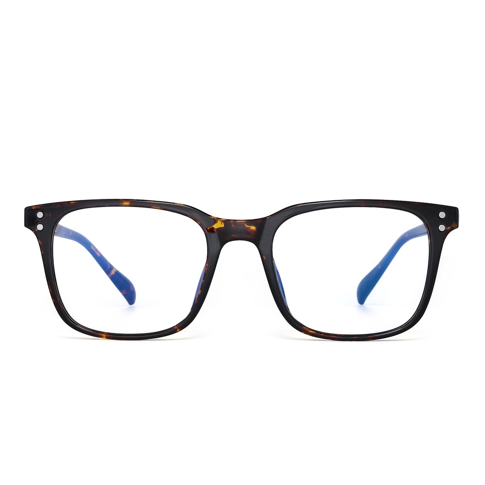 Blue Light Blocking Computer Glasses Square Eyeglasses TR90
