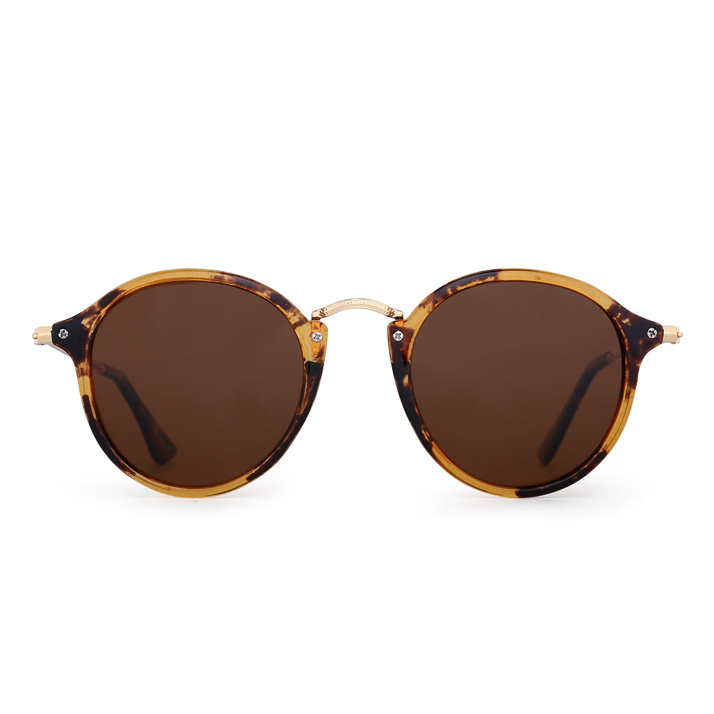 Retro Polarized Round Sunglasses for Women