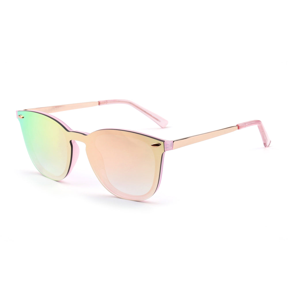 Rimless Sunglasses One Piece Mirror Reflective Eyeglasses