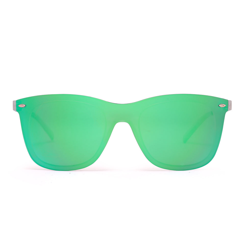 Rimless Mirrored Sunglasses One Piece