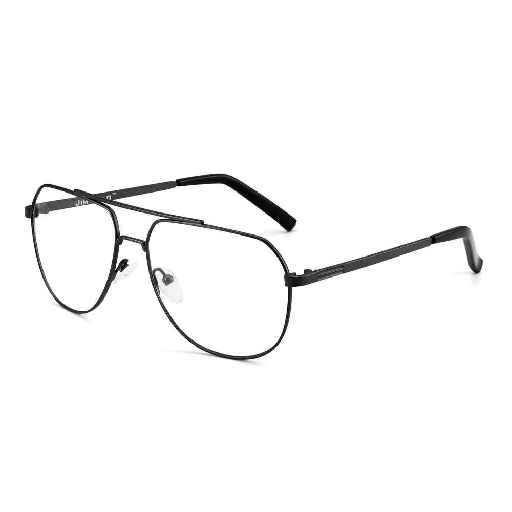 Blue Light Blocking Computer Glasses  Metal Aviator Frame