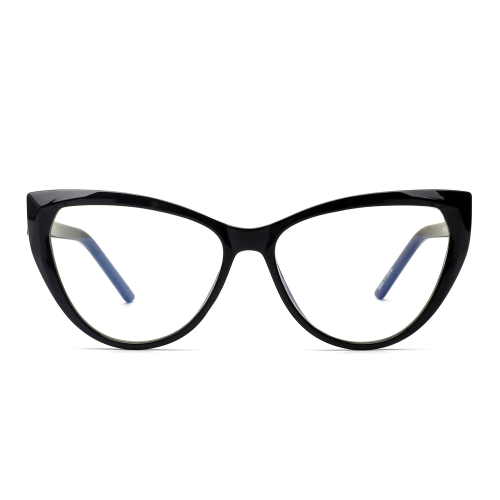 Cateye Blue Light Blocking Glasses for Women Spring Hinge