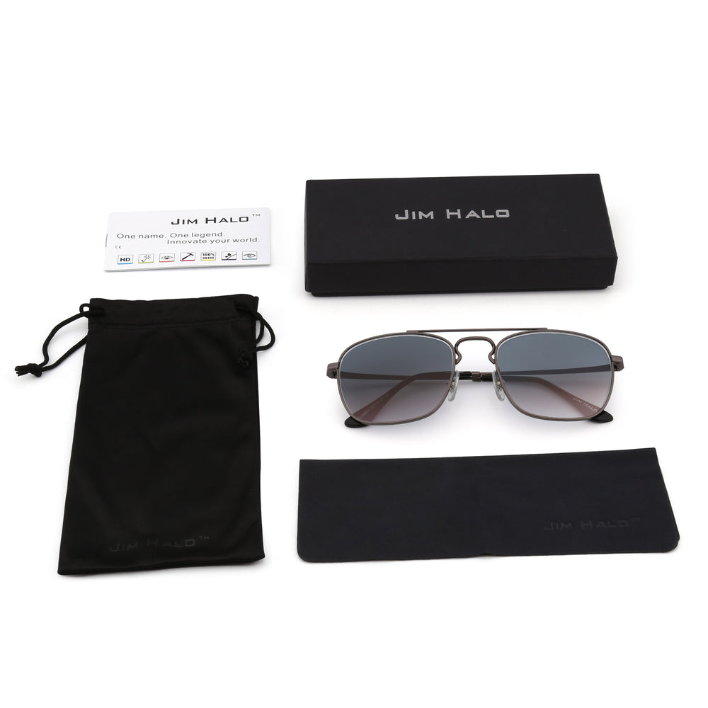 Retro Square Aviator Sunglasses