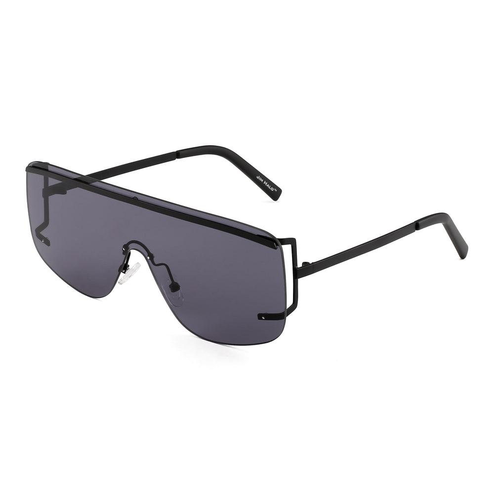 Oversized Shield Sunglasses Flat Top