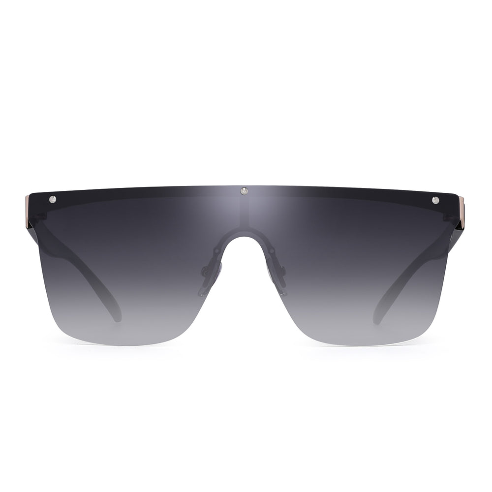 Rimless Shield Sunglasses One Piece