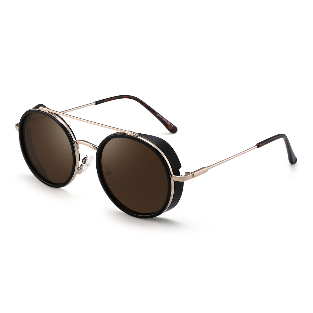 Retro Round Steampunk Sunglasses Circle Lens Metal Frame